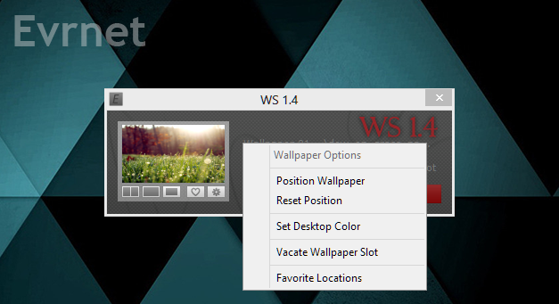 Evrnet Wallpaper Switcher - Wallpaper Options